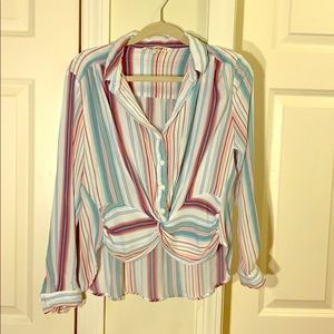 Tops - Pull over multicolor blouse